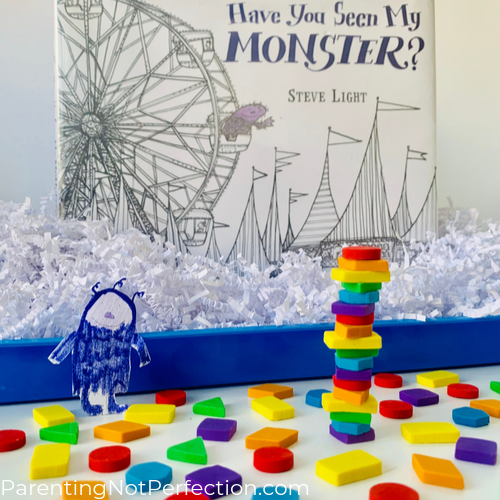 Have You Seen My Monster book with hidden monster shape play sensory