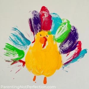 colorful turkey balloon print