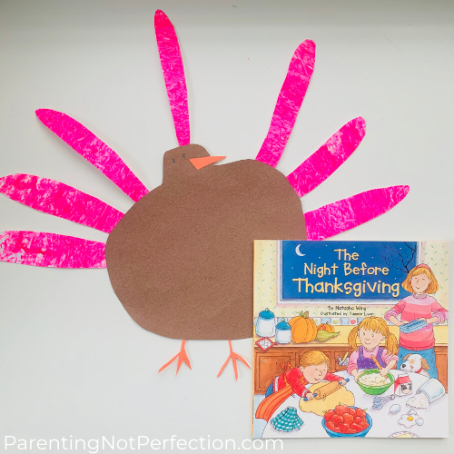 glow in the dark turkey art with the night before thanksgiving book