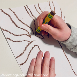 hand drawing a tree with branches