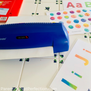 laminator and masterpiece alphabet letter sheets