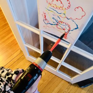 painting with a power tool