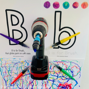 Uppercase and lowercase B printables from The Masterpiece Alphabet