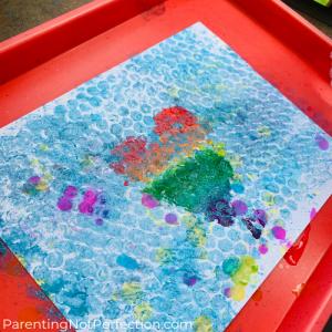 bubbles and bubble wrap art