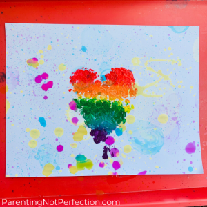 bubble art print with heart shaped bubble wrap print